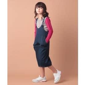 ikka kids 【キッズ】ワークポケットオールインワン(120~160cm)(ネイビー)