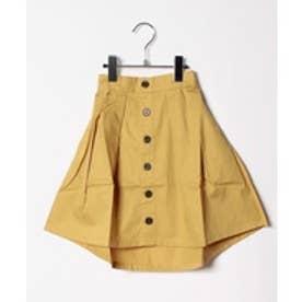 ikka kids 【キッズ】前ボタンイレヘムスカート(120~150cm)(キャメル)【返品不可商品】