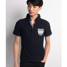 JEANS MATE 【CREATIONCUBE】各種デザインポロシャツB(ネイビーG)【返品不可商品】