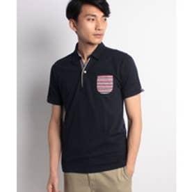 JEANS MATE 【CREATIONCUBE】各種デザインポロシャツB(ネイビーI)【返品不可商品】