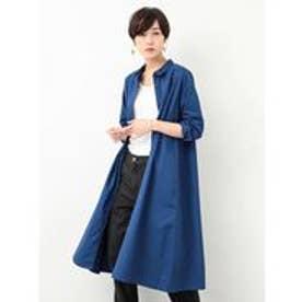 8682b1adf6168 カヤ 縞花小紋ワンピース ブルー -靴&ファッション通販 ロコンド〜自宅 ...