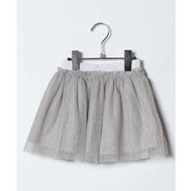 koe kids ラメチュールスカート(シルバー)【返品不可商品】