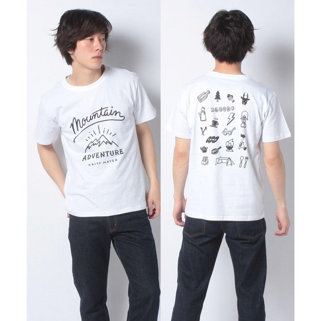 ロコンド 靴とファッションの通販サイトKRIFF MAYER ゆるアメカジT(MOUNTAIN)(オフホワイト)【返品不可商品】