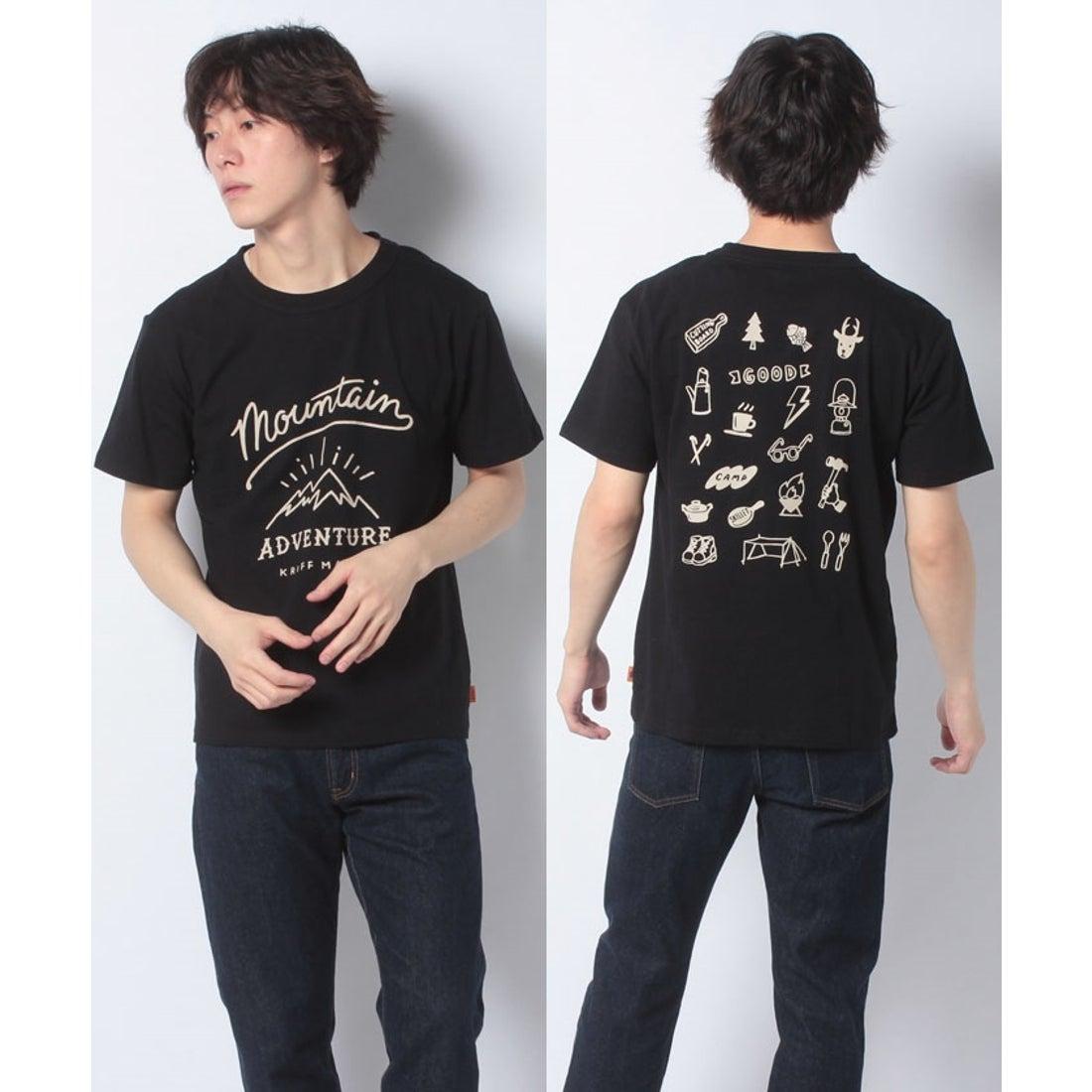 ロコンド 靴とファッションの通販サイトKRIFF MAYER ゆるアメカジT(MOUNTAIN)(ブラック)【返品不可商品】