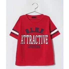 Lovetoxic カレッジロゴプリントTシャツ(レッド)【返品不可商品】
