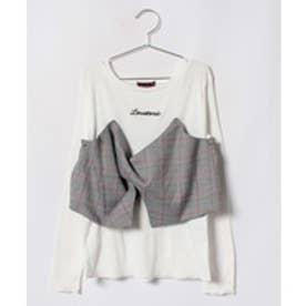 Lovetoxic ビスチェ風デザインTシャツ(オフホワイト)