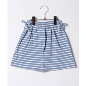 LUCAO ボーダースカート(ブルー)【返品不可商品】