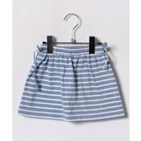 LUCAO ボーダースカート(ブルー×白)【返品不可商品】