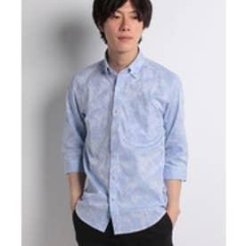 Men's Bigi ボタニカルシャツ(サックスブルー)【返品不可商品】