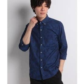Men's Bigi ボタニカルシャツ(ネイビー)【返品不可商品】