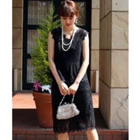 MARLENE JOBERT レースタイトスカートセットアップ(ブラック)【返品不可商品】