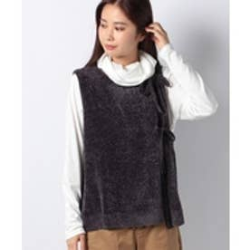MARcourt 【mizuiro ind】robbon knot vest(gray)