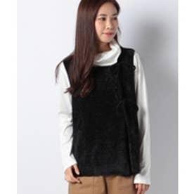 MARcourt 【mizuiro ind】robbon knot vest(black)