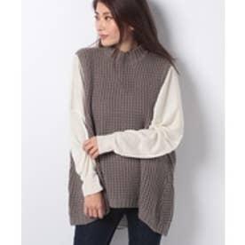 MARcourt 【mizuiro ind】waffle vest(gray)