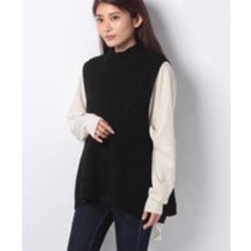 MARcourt 【mizuiro ind】waffle vest(black)