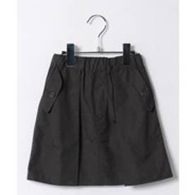 nunu タックスカート(M〜XL)(チャコール)【返品不可商品】