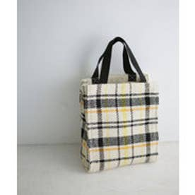 nano・universe Lilas Campbell/LP check pattern box totebag(ホワイト)