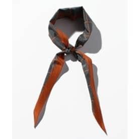 nano・universe イタリアンプリントスカーフ(パターン1)