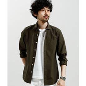 nano・universe OneNightDryシャツLS(カーキ)【返品不可商品】