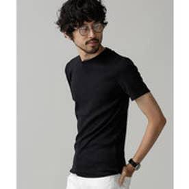 nano・universe Anti Soaked ヘビークルーワイドリブTシャツ(ブラック)
