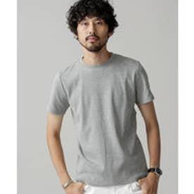 nano・universe Anti Soaked ヘビークルーワイドリブTシャツ(グレー)