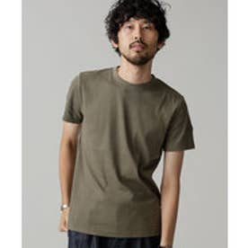 nano・universe Anti Soaked ヘビークルーワイドリブTシャツ(カーキ)