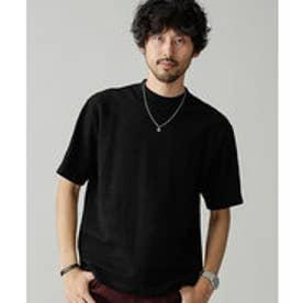 nano・universe サークルネックTシャツS/S(ブラック)