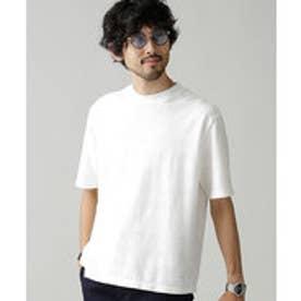 nano・universe サークルネックTシャツS/S(ホワイト)