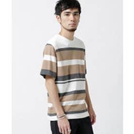 nano・universe インレイパネルボーダーTシャツ(パターン1)【返品不可商品】