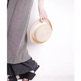 nano・universe INFIELDER DESIGN/RAFFIA BRAID BOATER HAT(オフホワイト)【返品不可商品】