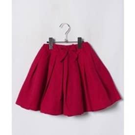petit main グログランスカート(レッド)【返品不可商品】
