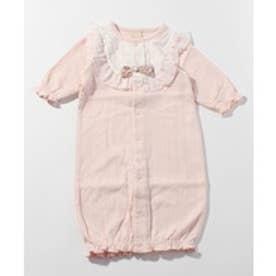 petit main シフォンフリル2WAYカバーオール(ピンク)【返品不可商品】