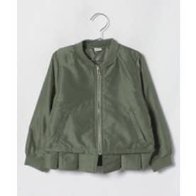 petit main 裾フリルブルゾン(カーキ)【返品不可商品】