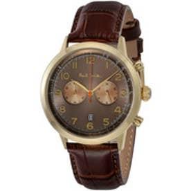 PAUL SMITH Paul Smith PRECISION CHRONO 腕時計 P10014 メンズ(ブラウン×ゴールド)【返品不可商品】