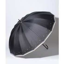 pinktrick BESUNNYビーサニー長傘【16本骨】スターライン(晴雨兼用UVカット耐風軽量撥水)(ブラック)【返品不可商品】