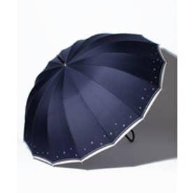 pinktrick BESUNNYビーサニー長傘【16本骨】スターライン(晴雨兼用UVカット耐風軽量撥水)(ネイビー)【返品不可商品】