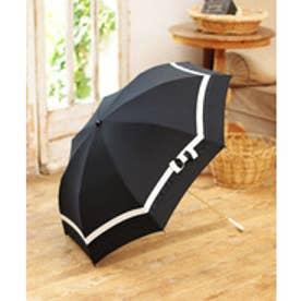 pinktrick 雨晴兼用 折傘 (UVカット&軽量) バイカラー(ブラック×ホワイト)【返品不可商品】