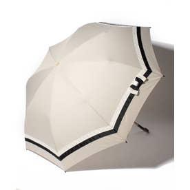 pinktrick 雨晴兼用 折傘 (UVカット&軽量) バイカラー(ベージュ×ブラック)【返品不可商品】