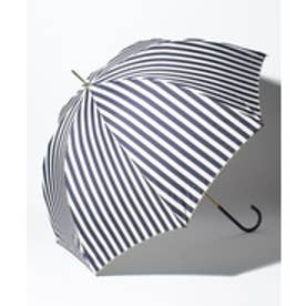 pinktrick BE SUNNY ビーサニー 長傘 【深張り】 ストライプ (晴雨兼用 UV 紫外線カット  耐風 軽量 撥水)(ストライプ×ネイビー)【返品不可商品】