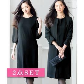 Ranan コートアップワンピースセットスーツ(ブラック)