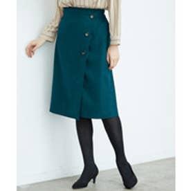 ROPE' PICNIC ウーリッシュフラノアイラインスカート(ダークグリーン(31))