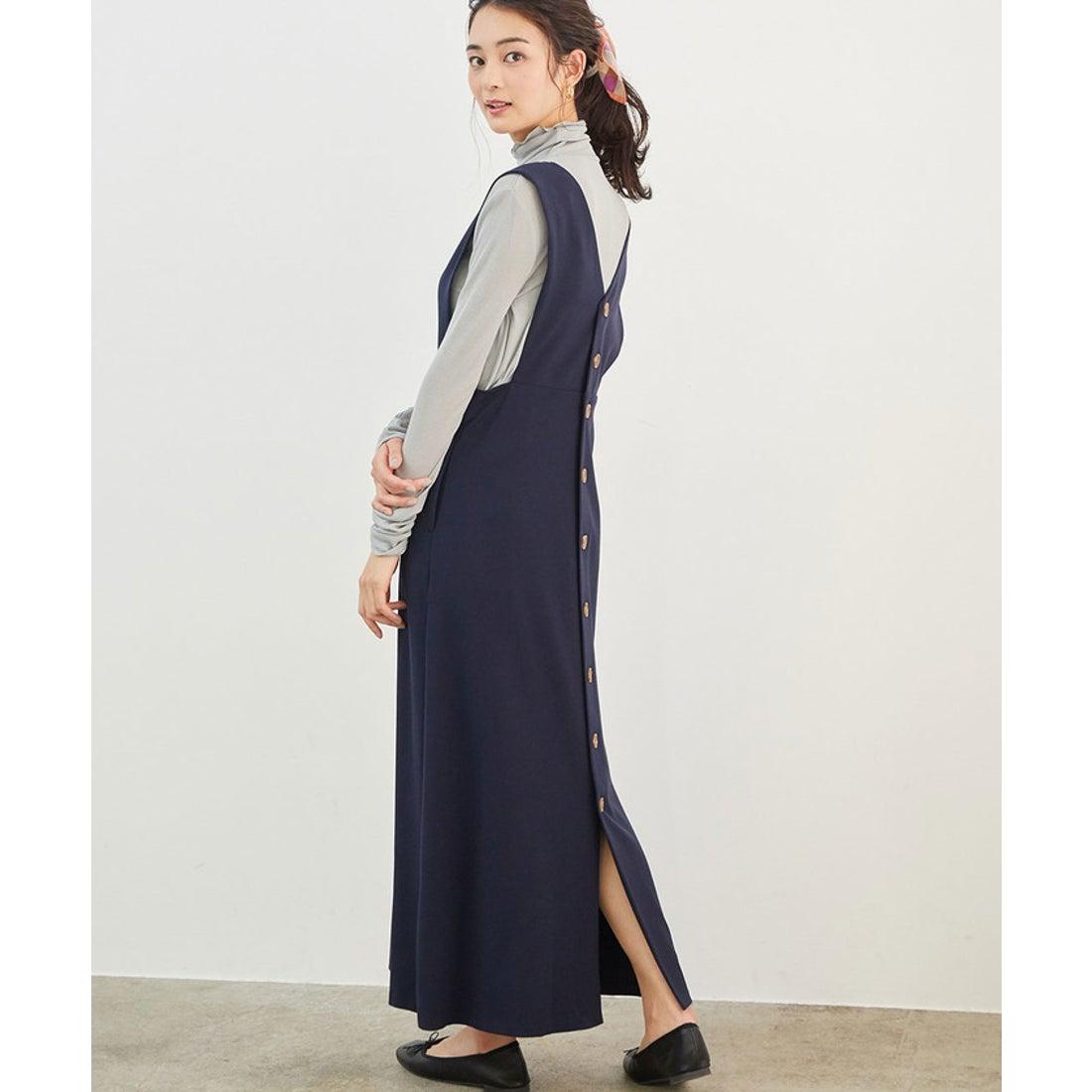 ロコンド 靴とファッションの通販サイトROPE' PICNIC 【新色追加】バック釦ジャンパースカート(ネイビー(40))【返品不可商品】