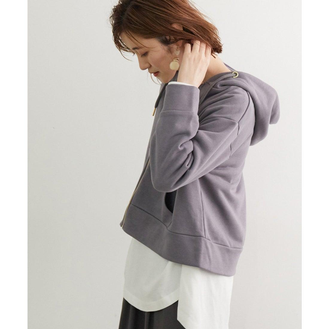 ロコンド 靴とファッションの通販サイトROPE' PICNIC 【新色追加】裏毛ジップショートフーディー(グレー系(09))【返品不可商品】