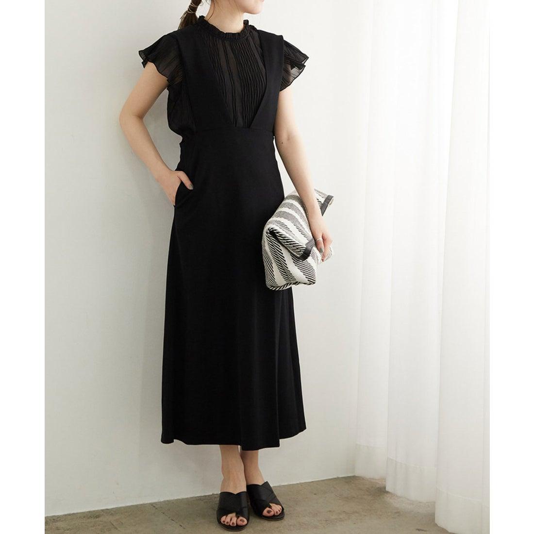ロコンド 靴とファッションの通販サイトROPE' PICNIC 【新色追加】バック釦ジャンパースカート(ブラック(01))【返品不可商品】