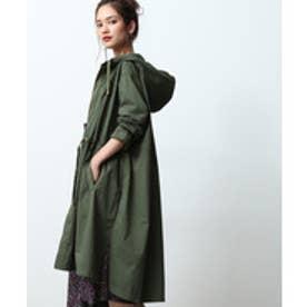 ROPE' mademoiselle ハードカノコミリタリーフードコート(グリーン(30))【返品不可商品】