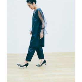 ROPE' mademoiselle 【ロペ マドモアゼル×AYA KANEKO】カマーベルトテーパードタフタパンツ(ブラック(01))【返品不可商品】