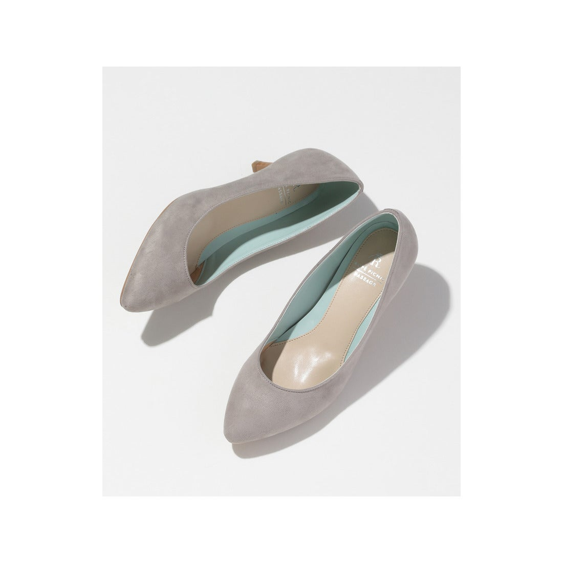 ロコンド 靴とファッションの通販サイトROPE PICNIC PASSAGE 【新色追加!】【WEB限定カラー】カラーコンビプレーンパンプス(ライトグレー(08))【返品不可商品】