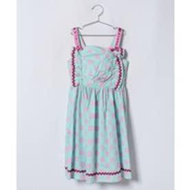 ShirleyTemple 水玉サンドレス(150~160cm)(サックス)【返品不可商品】