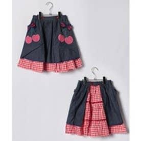 ShirleyTemple エプロン付きスカート(150〜160cm)(紺)【返品不可商品】