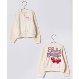 ShirleyTemple ジップアップジャケット(110〜130cm)(アイボリー)【返品不可商品】